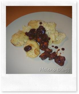 Potatisgratäng med marinerad kycklingfilé