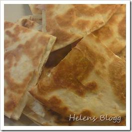 Ost och skink quesadillas