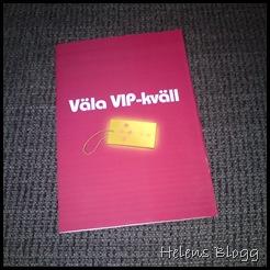 Väla VIP-kväll erbjudande häfte