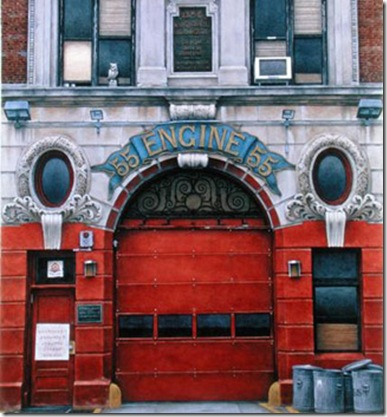 RBR167443  Credit: Engine 55, Broome Street, 1998 (w/c on paper) by Frederick Brosen (Contemporary Artist) Private Collection/ LTD Editions for Frederick Brosen/ The Bridgeman Art Library Nationality / copyright status: American / in copyright PLEASE NOTE: This image is protected by artist's copyright which needs to be cleared by you. If you require assistance in clearing permission we will be pleased to help you. In addition, we work with the owner of the image to clear permission. If you wish to reproduce this image, please inform us so we can clear permission for you.