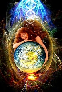 Angel holding the earth