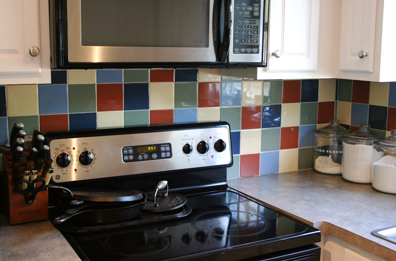 Diy: Painting Kitchen Tile