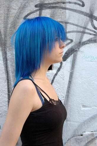 trendy medium hairstyles. Trendy medium blue hair style