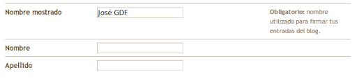 Cambiar nombre mostrado en Blogger