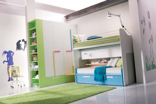 Modern yet Stylish Girls Bedroom Design