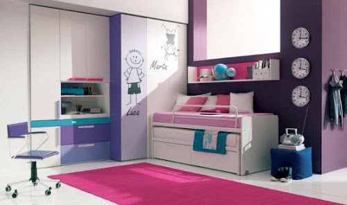 Modern yet Stylish Girls Bedroom Design
