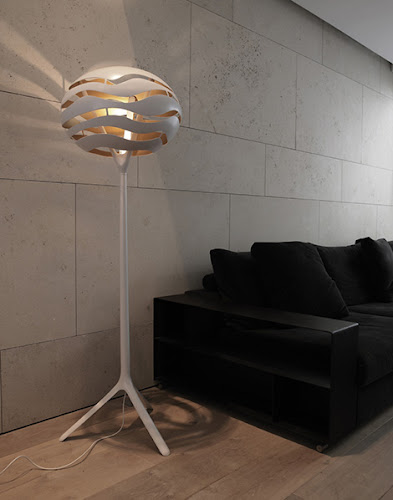 Torchiere Floor Lamp with Unusual Shade by Dab - Tree