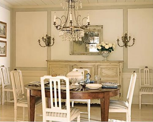 Painted Dining Room Chandelier
