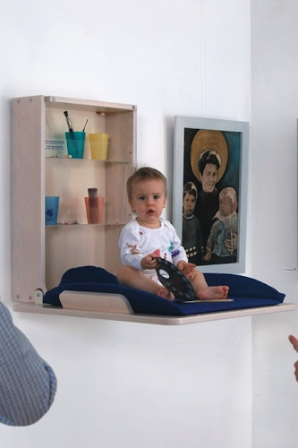 Cool Wall-Mount Baby Changers