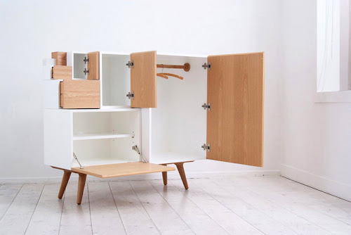 Functional Furniture Cabinet by Kamkam Studio