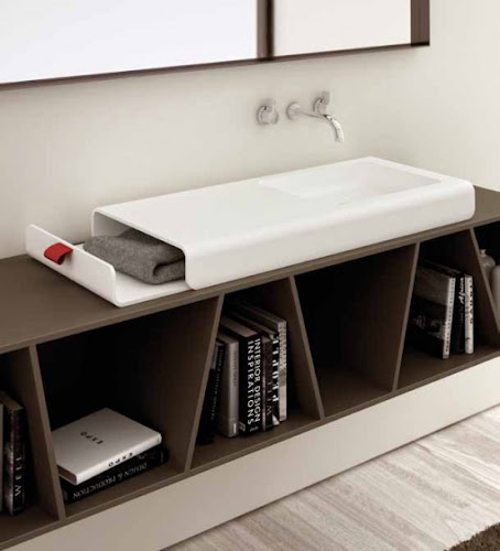 Practical Washbasin with Storage by Planit
