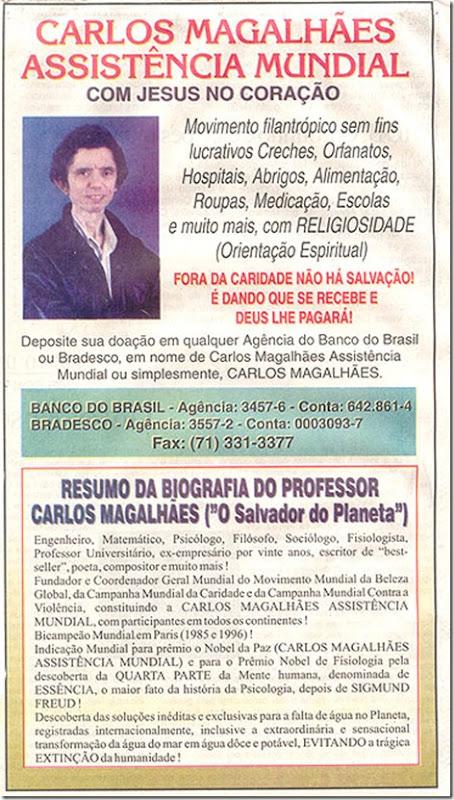 Cartaz - Carlos Magalhães