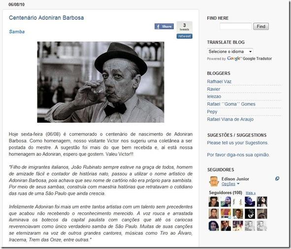 Música & Cerveja - Adoniran