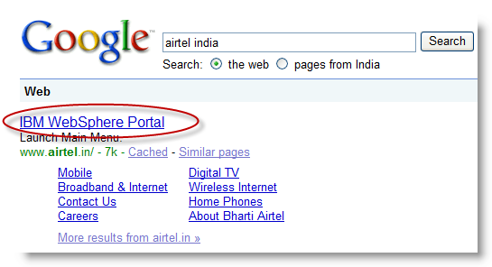 Google for Airtel India