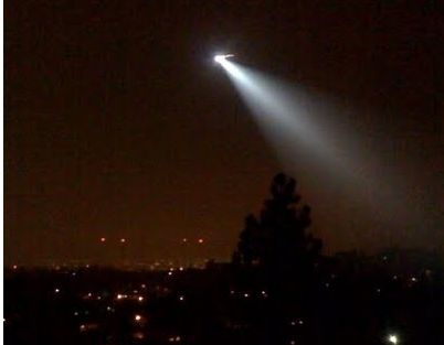 LAPD police helicopter over Echo Park.