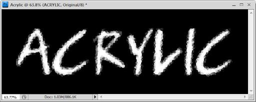เทคนิคการสร้างตัวอักษร Acrylic [Text Effect] Acrylic08