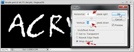 เทคนิคการสร้างตัวอักษร Acrylic [Text Effect] Acrylic22