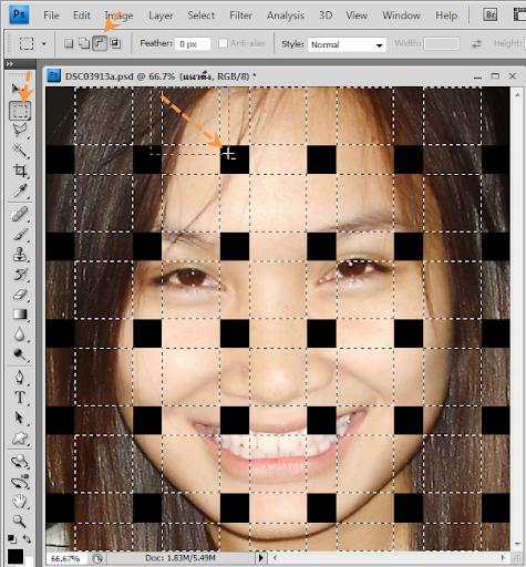 เทคนิคการทำภาพแบบ Interweaving Photo Strips [Photo Effect] JStrips16