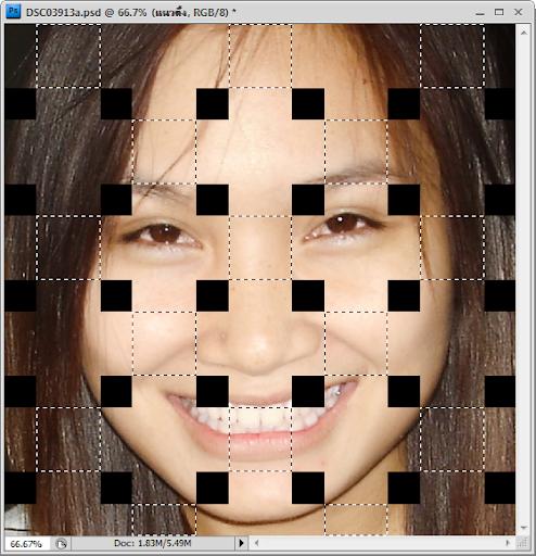 เทคนิคการทำภาพแบบ Interweaving Photo Strips [Photo Effect] JStrips17