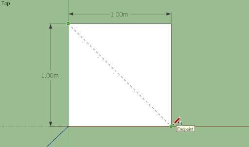 มหัศจรรย์รูปสี่เหลี่ยมกับ SketchUp Sq-01