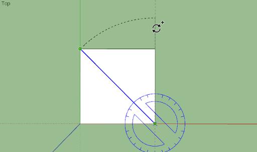 มหัศจรรย์รูปสี่เหลี่ยมกับ SketchUp Sq-11