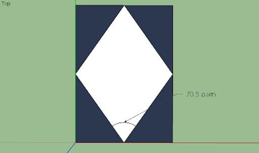 SketchUp - มหัศจรรย์รูปสี่เหลี่ยมกับ SketchUp Sq-13