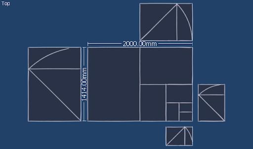มหัศจรรย์รูปสี่เหลี่ยมกับ SketchUp Sq-48