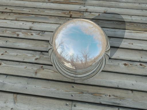 Renderแล้วเงาสะท้อนในลูกเหล็กมันเป็นเหลี่ยมอะครับ Circle