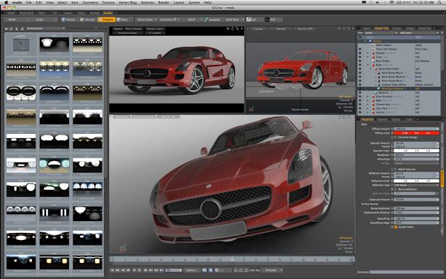 animation - modo 501 Feature Tour 501raygl_car_890