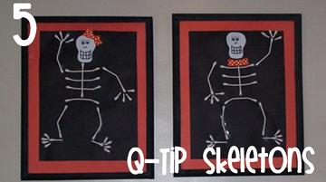 5 Q-Tip Skeletons