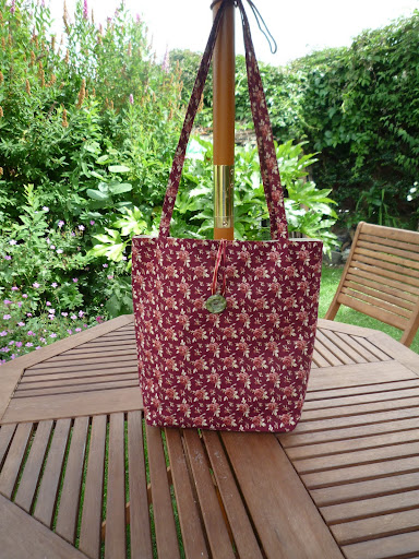 Burgundy Rose Handmade Handbag
