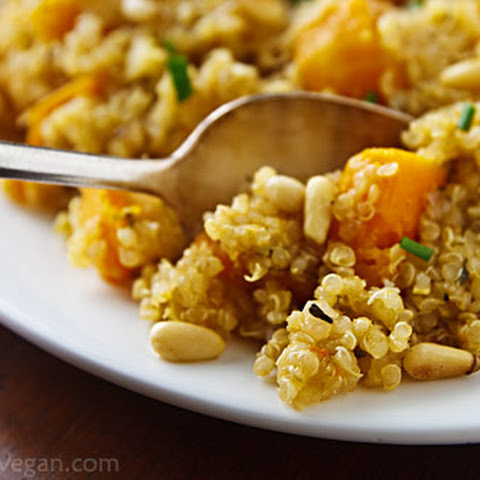 Lemony Quinoa with Butternut Squash