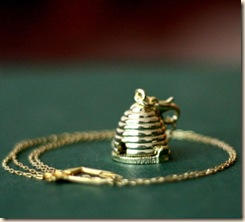 Bee Hive Locket Necklace-contrary
