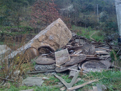 A big rock squashed the livehood of some farmers.