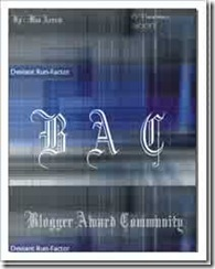 blogger award community- BU