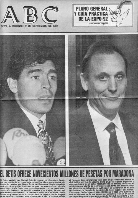 Maradona y el Betis1992