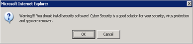 Fig2: Security Warning pop-up