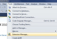 Tools ->Extension Manager