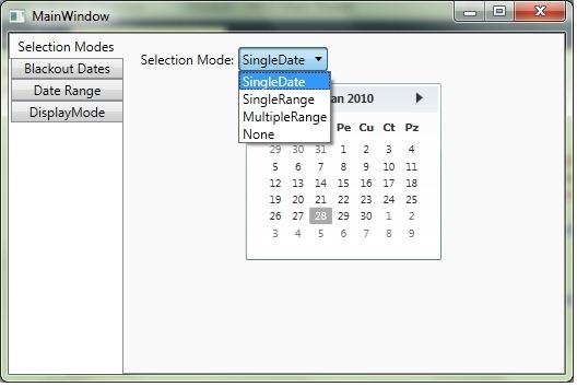 WPF Calendar