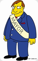 THE SIMPSONS.  Mayor Quimby on THE SIMPSONS on FOX.  ™©2002THE SIMPSONS and TTCFFC ALL RIGHTS RESERVED.  ™©2002FOX BROADCASTING  CR:FOX