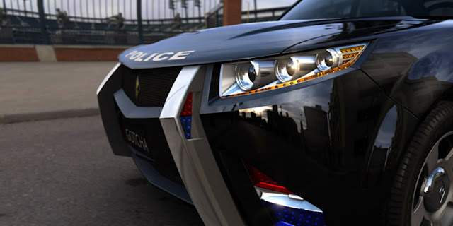 Police Car Headlight