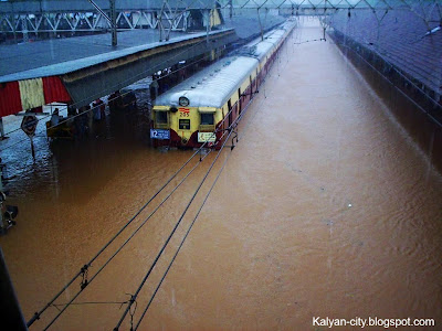 Kalyan Railway Station During Floods