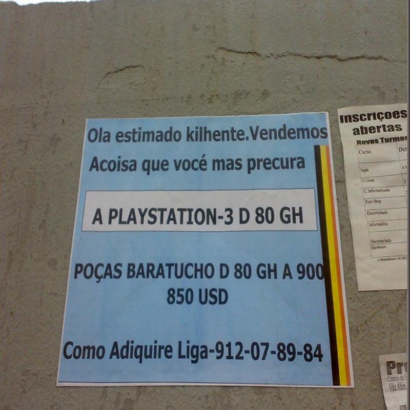 Vende-se Playstation - Imagem Humor