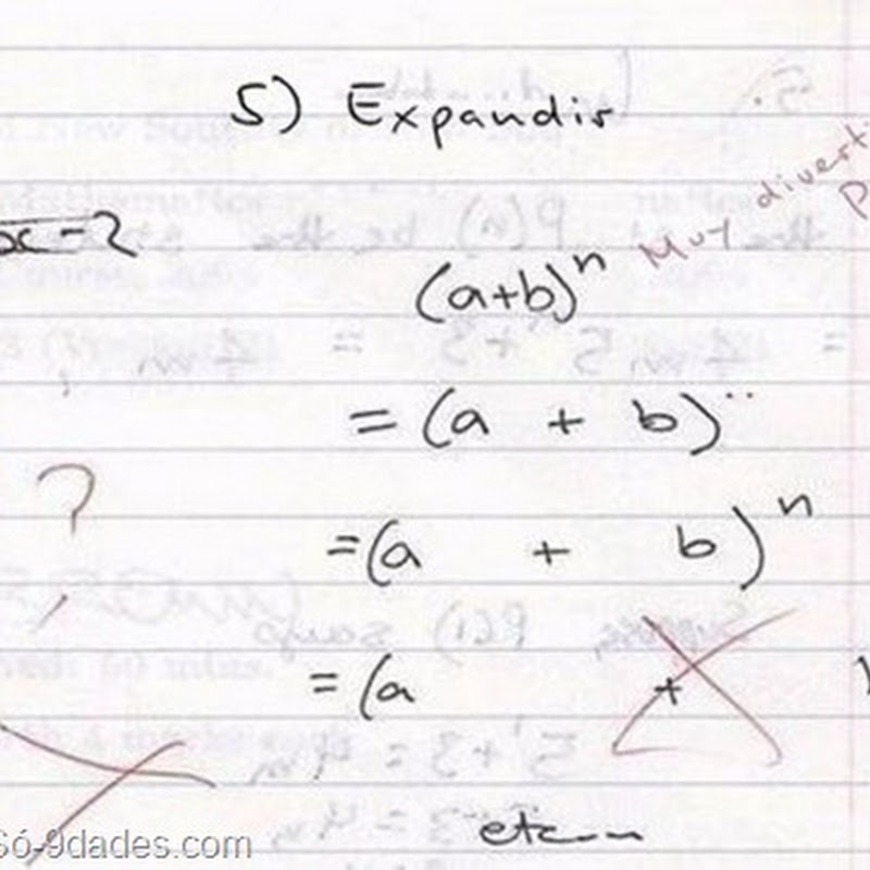 Enquanto Isso, Numa Prova de Matemática 'Humor'