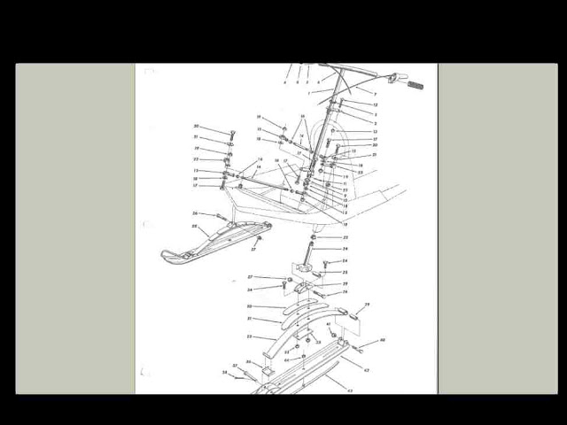 polaris colt mustang 1966 1969 1968 snowmobile manuals for sale 1967 Minute Miser Cushman Wiring Diagram 1966 1969 snowmobile service parts manual & brochure collection Cushman Minute Miser Repair Manual