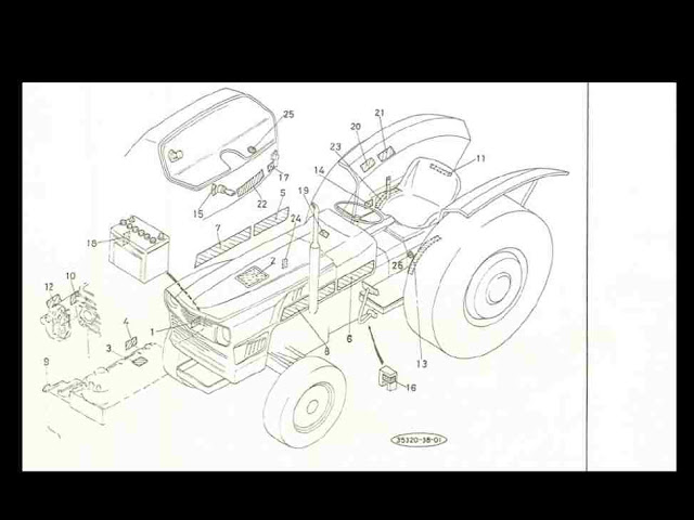 kubota l305 l305d l 305 dt tractor diagram parts manual for sale