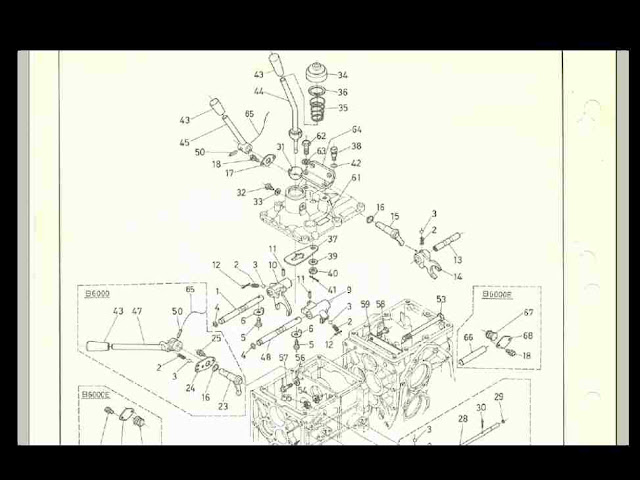 KUBOTA B6000 B6000e B 6000 TRACTOR DIAGRAM PARTS MANUAL