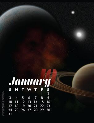 Jan Planets Calendar
