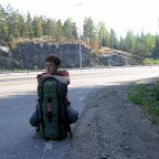 Первый километры стопа в Финляндии