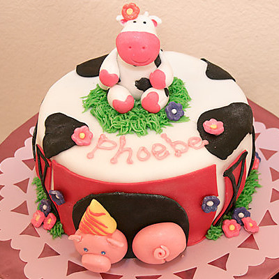cow birthday cake
